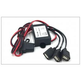 Enchufe USB Triple de 3 puertos de carga rapida