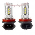 Kit de bombetes LED H11 80 Watts